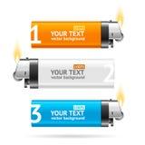 Color Lighter Menu Infographic Banner Card. Vector Stock Photos