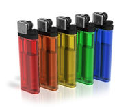 Color lighters Stock Image