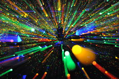 Color Lighting Explosion. Zooming create color lighting explosion Royalty Free Stock Photos