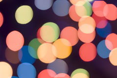 Color lights Stock Image