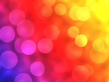 Color lights background. With bokeh effect Royalty Free Stock Photos
