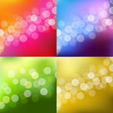 Color Lights Background With Bokeh Stock Photography