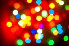 Color lights blur background Stock Images