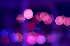 Color lights bokeh stock image