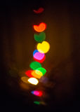 Color lights on Chriistmas tree Royalty Free Stock Photography