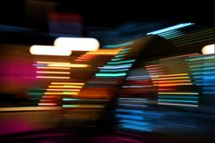 Color lights moving Royalty Free Stock Photo