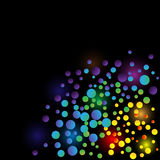 Color lights vector background Royalty Free Stock Photos