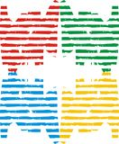 Color line. Yellow, blue, green, red color chart consisting of wallpaper vector illustration