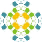 Color line. Yellow, blue, green and white colors of the small boxes royalty free illustration