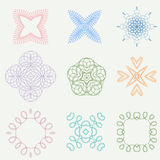 Color line art ornament design Royalty Free Stock Image