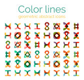 Color line design abstract icons, collection Stock Image