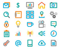 Color line icon set. Vector Illustration Royalty Free Stock Photography