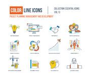 Color Line icons collection. Stock Photos