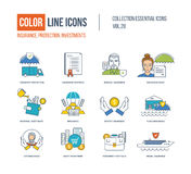 Color Line icons collection. Stock Photography