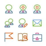Color line set 01. Vector icons set for internet, website, guides vector illustration