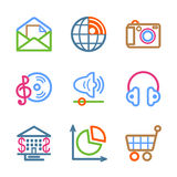Color line set 05. Vector icons set for internet, website, guides Royalty Free Stock Images