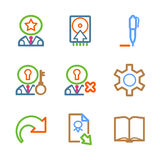 Color line set 06. Vector icons set for internet, website, guides royalty free illustration