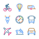 Color line set 20. Vector icons set for internet, website, guides Vector Illustration