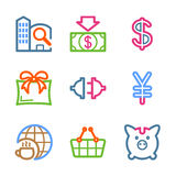 Color line set 24. Vector icons set for internet, website, guides Stock Photo