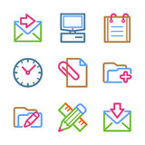 Color line set 27 Royalty Free Stock Images
