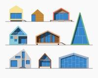 Color linear de las casas minúsculas 1 Imagen de archivo