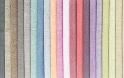 COLOR LINENS. TEXTURES OF COLOR LINEN CLOTHES AS BACKGROUNDS Stock Photography