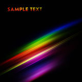 Color lines. Rainbow lines on black background Royalty Free Stock Photos