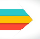 Color lines arrow for customization info graphics. Royalty Free Stock Photography