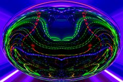 Color lines and curves creates fantastic elipse image. royalty free stock images