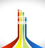 Color lines illustration design Royalty Free Stock Photos