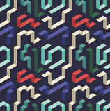 Color lines pattern. Seamless pattern with color lines and dark background Royalty Free Stock Photo