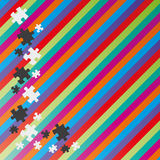 Color lines and puzzle Stock Images