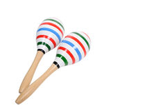 Color lining painting on double Maracas. Royalty Free Stock Photos