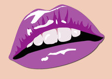 Color Lips. Illustration of Sexy Color Lips Stock Images
