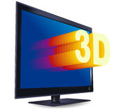 Color liquid-crystal 3D TV-set Stock Image