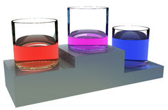 Color liquid win Stock Photography