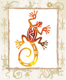 Color lizard in a frame Royalty Free Stock Image