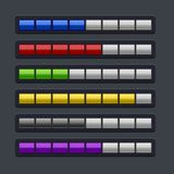 Color Loading Progress Bar Set. Stock Photography