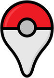 Color logo of Pokemon Go - free-to-play location-based augmented Royalty Free Stock Photography