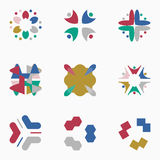 Color logos Stock Photography