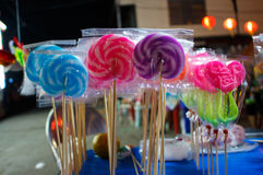 Color lollipop Stock Images