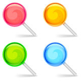 Color lollipops. Royalty Free Stock Images