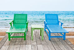 The Color of long chair Stock Photo