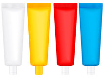 Color lotion tube Royalty Free Stock Photos