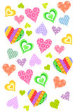 Color Love Hearts background Royalty Free Stock Photos