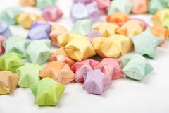Color lucky stars origami Stock Photo