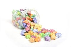 Color lucky stars origami Royalty Free Stock Photo