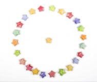 Color lucky stars origami circle Royalty Free Stock Images
