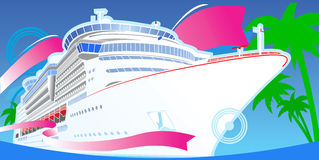 Color Luxury Cruise Boat. Stock Photos