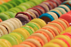 Color macaroons background Stock Photography